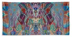 Mirrored Statues  Hand Towel