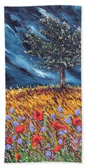 Hand Towel featuring the painting Steadfast Love by Meaghan Troup