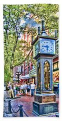Steam Clock In Vancouver Gastown Hand Towel
