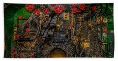 Steam Locamotive Controls Hand Towel by Paul Freidlund