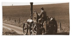 Steam Tractor Bath Towel