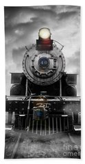 Steam Train Dream Hand Towel by Edward Fielding