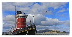Bath Towel featuring the photograph Steam Tug Hercules by Kate Brown