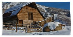 Steamboat Barn Hand Towel by Don Schwartz