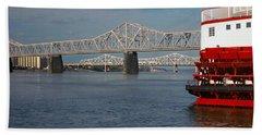 Steamboat Belle Of Louisville In Ohio Bath Towel