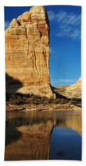 Steamboat Rock In Dinosaur National Monument Hand Towel by Nadja Rider