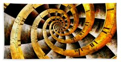 Steampunk - Clock - The Flow Of Time Bath Towel