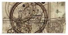 Steampunk Dream Series IIi Hand Towel by James Christopher Hill