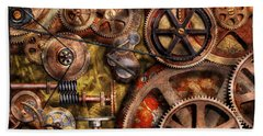 Steampunk - Gears - Inner Workings Bath Towel