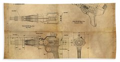 Steampunk Raygun Bath Towel by James Christopher Hill