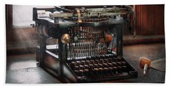 Steampunk - Typewriter - A Really Old Typewriter  Hand Towel