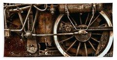 Steampunk- Wheels Of Vintage Steam Train Hand Towel
