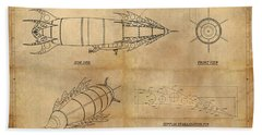 Steampunk Zepplin Hand Towel by James Christopher Hill