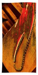 Steinway Piano Golden Inners Bath Towel