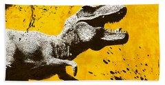 Stencil Trex Hand Towel by Pixel Chimp