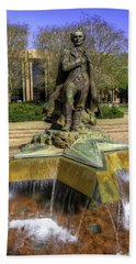 Hand Towel featuring the photograph Stephen F. Austin Statue by Tim Stanley