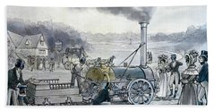 Stephensons Northumbrian, The First Locomotive To Be Built With An Integral Firebox Bath Towel