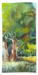 Bath Towel featuring the painting Sterling Forest by Carol Wisniewski