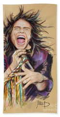 Steven Tyler Hand Towel by Melanie D