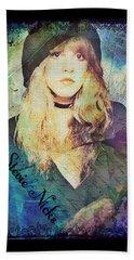 Stevie Nicks - Beret Bath Towel by Absinthe Art By Michelle LeAnn Scott