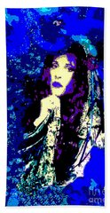 Stevie Nicks In Blue Hand Towel by Alys Caviness-Gober