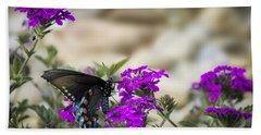 Still Beautiful Swallowtail Bath Towel