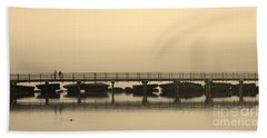 Hand Towel featuring the photograph Still Lake by Clare Bevan