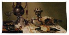 Still Life, 1642 Oil On Canvas Hand Towel
