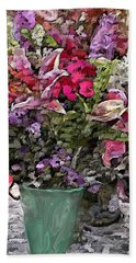 Hand Towel featuring the digital art Still Life Floral by David Lane