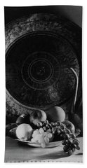 Still Life Of Armenian Plate And Other Bath Towel