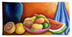 Still Life Of Fruits Hand Towel