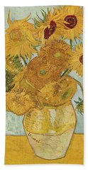 Still Life Sunflowers Bath Towel