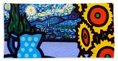 Still Life With Starry Night Hand Towel