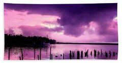 Hand Towel featuring the photograph Still Water Dusk by Wallaroo Images