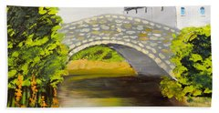 Stone Bridge At Burrowford Uk Hand Towel