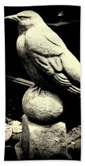 Stone Crow On Stone Ball Hand Towel by Kathy Barney