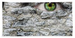 Stone Face Hand Towel by Semmick Photo