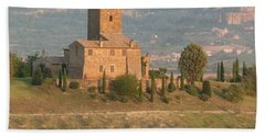 Hand Towel featuring the photograph Stone Farmhouse by Marcia Socolik