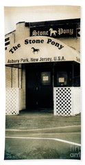 Stone Pony Bath Towel by Colleen Kammerer