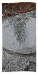 Hand Towel featuring the photograph Stone Pool Angel by Brian Boyle
