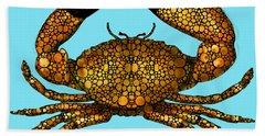 Stone Rock'd Stone Crab By Sharon Cummings Bath Towel