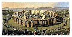 Stonehenge, Druid Festival Hand Towel