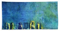 Stonehenge In Moonlight Bath Towel