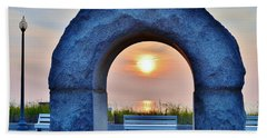 Sunrise Through The Arch - Rehoboth Beach Delaware Bath Towel
