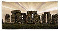 Stonehenge -- With Sunburst Bath Towel