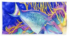 Stoplight Parrotfish Hand Towel