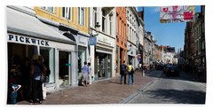 Stores In A Street, Bruges, West Hand Towel