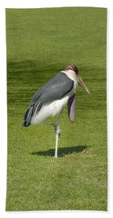 Hand Towel featuring the photograph Stork by Charles Beeler