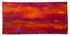 Storm Clouds Sunset Hand Towel by Gail Kent
