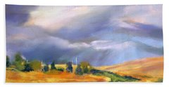 Bath Towel featuring the painting Storm Colors by Rae Andrews